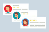 User reviews flat style vector illustration