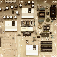 Electronic circuit board scheme background