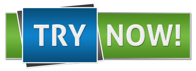 Try Now Green Blue Button Style