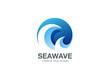 Water Wave Logo design vector. Creative Abstract Circle - 79957409