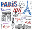 France symbols as funky doodles - 79959423