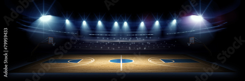 Deurstickers Stadion Basketball stadium