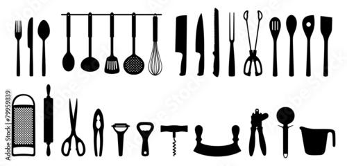 Küchenhelfer Silhouetten Set - 79959839