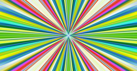 Esplosione di luce colorata