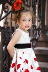 child in a dress
