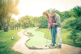 Fototapety Couple at golf club