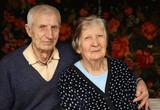 portrait of grandparents at home