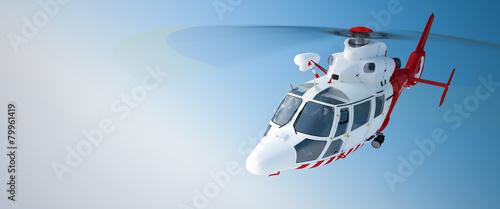 Leinwanddruck Bild Helicopter