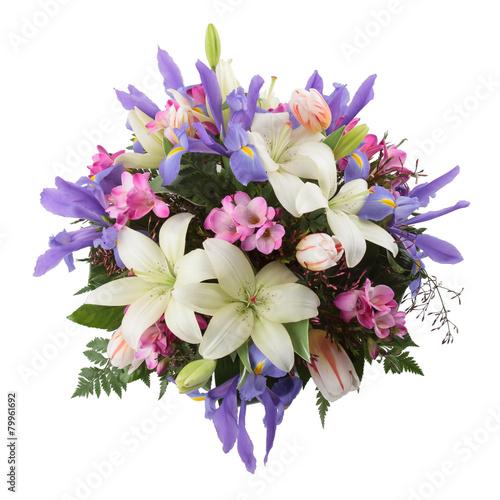 Papiers peints Iris Flower arrangement seen from above