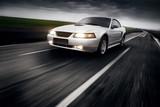 Fototapety Speed Car Clouds Asphalt