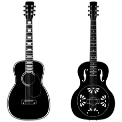 Acoustic and resophonic guitar