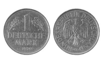 One deutsche mark, Germany coin 1979