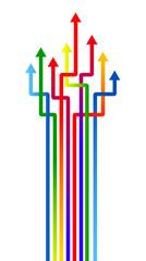 frecce colori, verde, intricate, menù