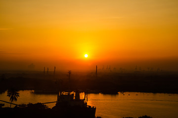 Sunrise on the Saigon River