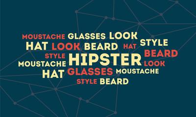 Fondo hipster