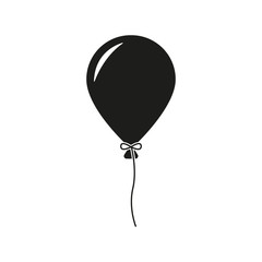 The balloon icon. Holiday symbol. Flat