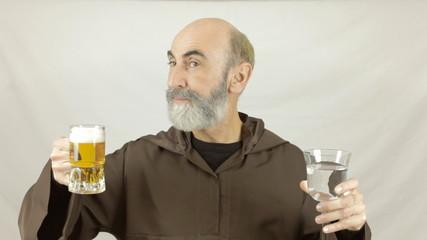 Friar choose water or beer