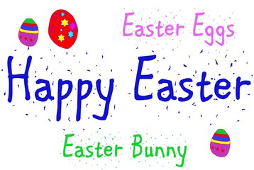 Happy Easter concept sign