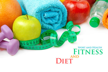 Fitness and diet, healthy food