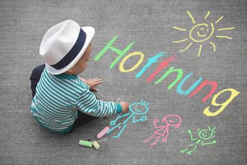 Kinderzeichnung - Hoffnung