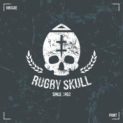 Rugby team skull emblem
