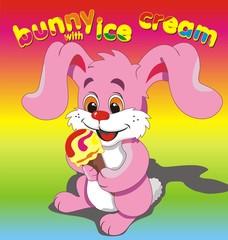 Bunny ice cream pink