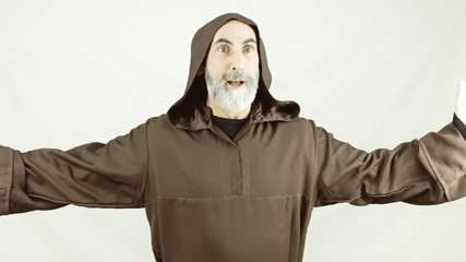 Friar dancing clapping happy