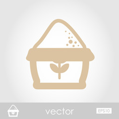 Sack of flour vector icon