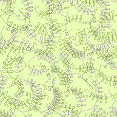 Murine peas. Seamless floral pattern