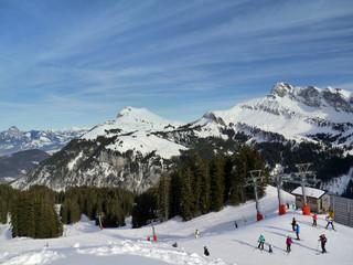 Estación de esquí, Alpes Suizos