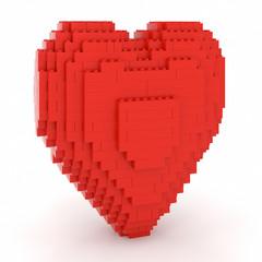 Toy Bricks Red Heart