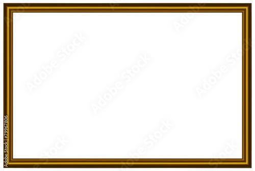 Cornice dorata rettangolare - 79967806