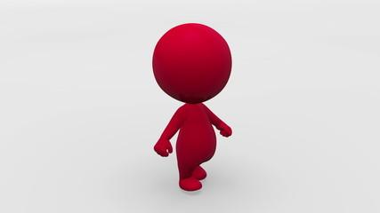 Looping Walking Animated Character