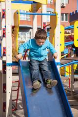 Boy on playgroung
