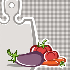 Preparation of vegetable dishes in the vector.