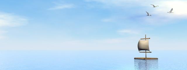 Raft - 3D render
