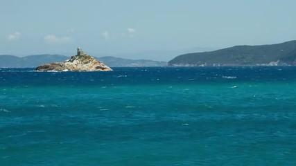 HD time lapse of the sea off Padulella, Elba, Italy.