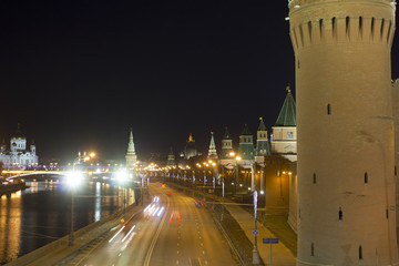 Kremlin embankment. Russia. Moscow