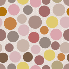 Abstract seamless pattern with colored dots