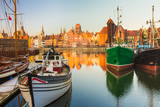 Fototapety Morning scenery of Gdansk old town in Poland