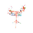 Colorful music stand with butterflies - 79971254