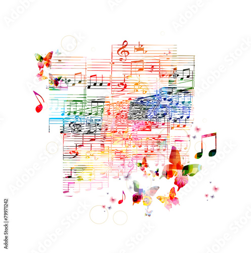Colorful music background - 79971242