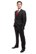 Confident businessman full length