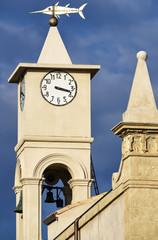 Italy, Portopalo di Capopassero, the church's bell tower