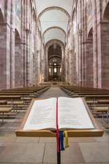 Speyer Cathedral Interior and Bible