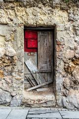 Old abandoned door