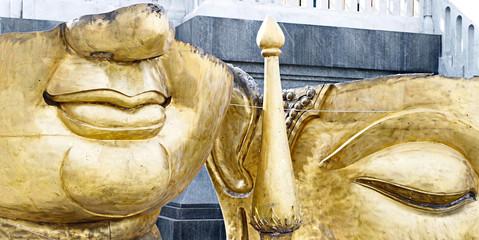 Part of Buddha idol for renovate