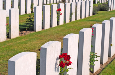 British World War I cemetery near Ypres