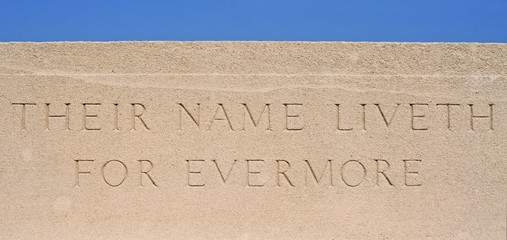 Their name liveth for evermore, cemetery WW1