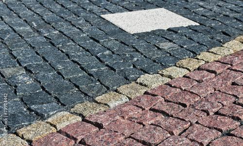 pattern on the pavement - 79974442